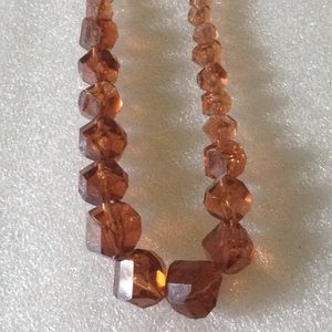 Antique faced lucite beads necklace